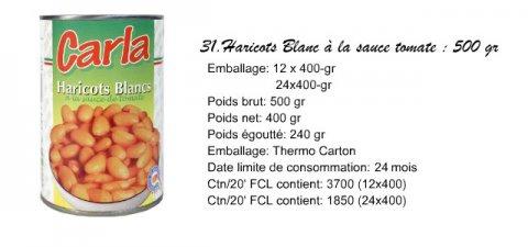 tomates en boites et legumes bouillis