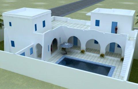 مشروع جديد: نموذجي حوش مع بركة سباحة خاصة