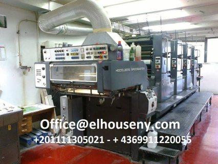 10ماكينة طباعة هايدلبرج سبيد ماستر 4 لون موديل 198