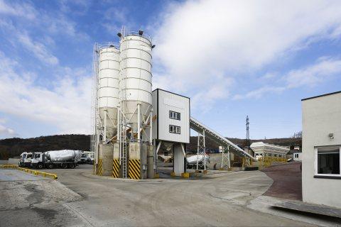 محطة خلط الخرسانة HSZ60,مصنع خلط الخرسانة 60 م3/سا