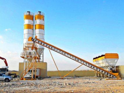 محطة خلط الخرسانة HZS50,مصنع خلط الخرسانة 50 م3/سا