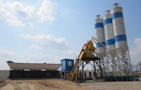 محطة خلط الخرسانة HZS25,مصنع خلط الخرسانة 25 م3/سا