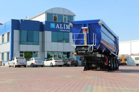 الموديل Half Pipe Tipper Trailer Hardox 450 الفئة