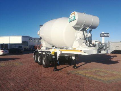 خلاطة الخرسانة، mixer semi trailer concrete mixer